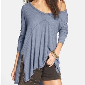 """Free People """"Sunset Park"""" Thermal Top / Sweater"""
